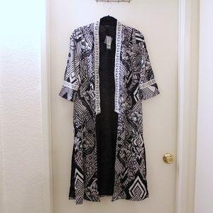 River Island Black & White Geometric Print Kimono